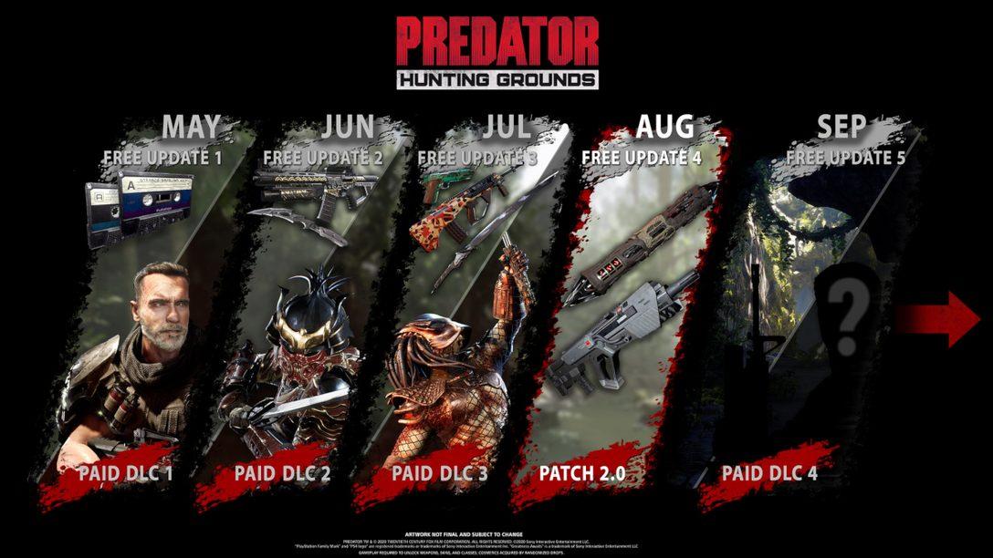 《Predator: Hunting Grounds》八月份更新
