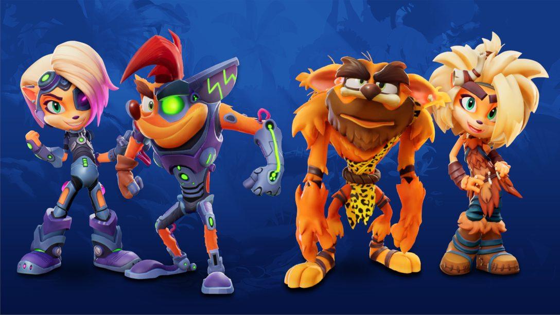 《Crash Bandicoot™ 4》開發者分享十大造型,慶祝PS5版現已上市!