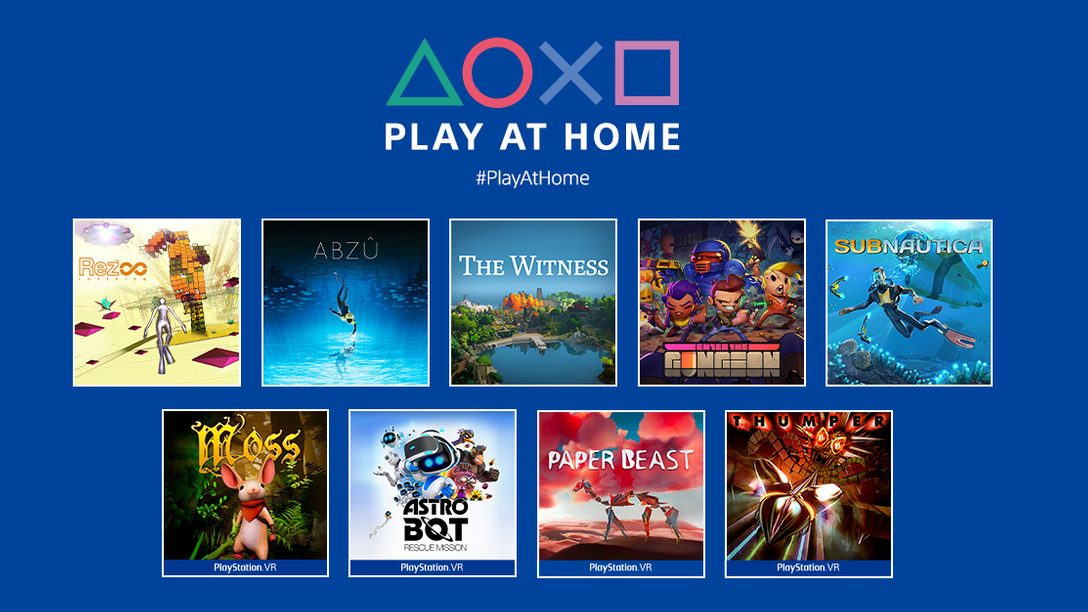 「Play at Home」2021年更新:10款遊戲今春供玩家免費下載