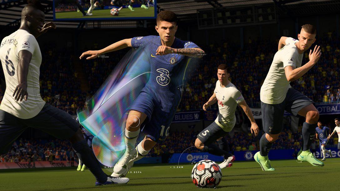 FIFA 22:PS5 的 DualSense 無線控制器與 3D 音效如何讓您在世界級賽事中獲得前所未有的沉浸感